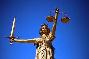 burden of proof Lady justice